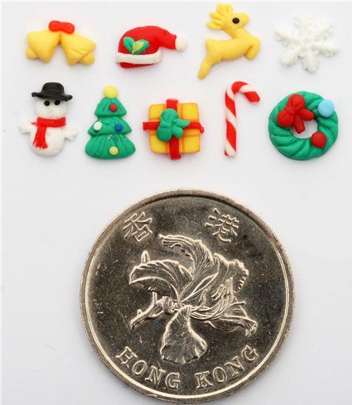 Cute Kawaii Christmas Clay Mini Deco 5 Pieces