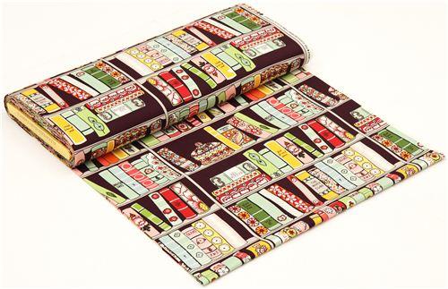 Purple Alexander Henry Bookshelf Fabric With Books 3