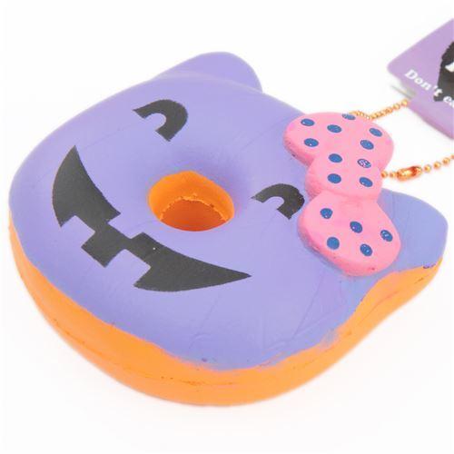 purple Halloween pumpkin Hello Kitty donut squishy charm - Hello ...