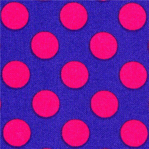 purple michael miller fabric pink polka dots dots stripes checker fabric kawaii shop modes4u. Black Bedroom Furniture Sets. Home Design Ideas