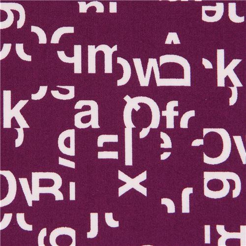 a23f46ff2ab purple 'Typography' white letter Cloud 9 organic cotton fabric - modeS4u