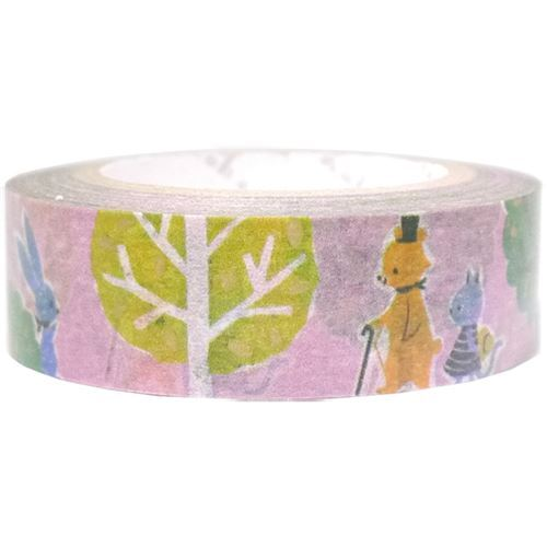 Nastro adesivo viola orsi alberi decorazioni dorate shinzi - Nastri decorativi natalizi ...
