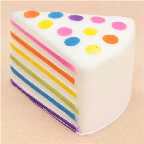 Squishy Cake Slice : rainbow cake slice squishy - Food Squishy - Squishies - Kawaii Shop modeS4u