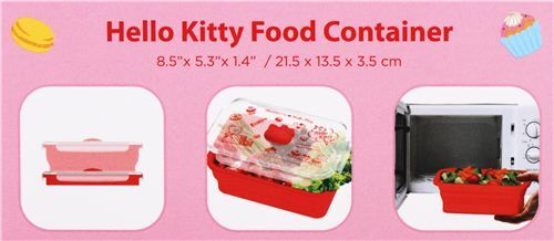 Details about  /Sanrio Silicone Lunch Box Bento Expandable Collapsible Food Container w//Seal Cap