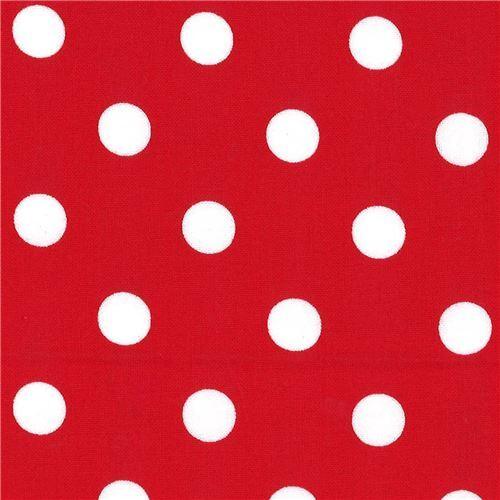 Roter Stoff Mit Weissen Punkten Von Michael Miller Modes4u