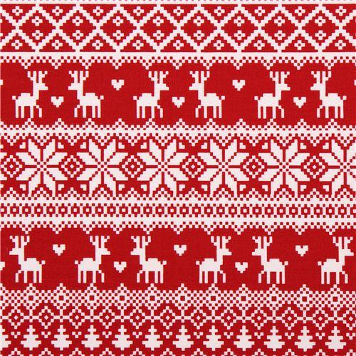 Tissu de no l winter essentials ii rouge motifs - Motif de noel a imprimer ...