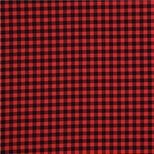 Tela De Cuadros Rojo Y Negro Burly Beavers De Robert Kaufman Modess4u