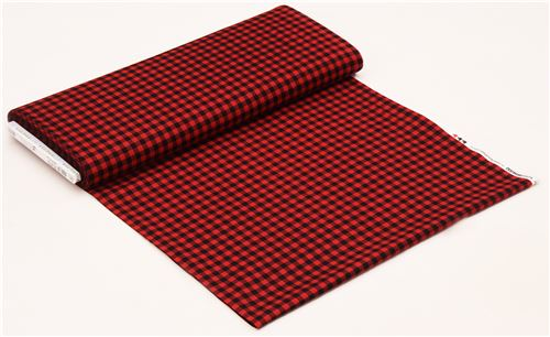 red black checkered robert kaufman fabric burly beavers dots stripes checker fabric. Black Bedroom Furniture Sets. Home Design Ideas