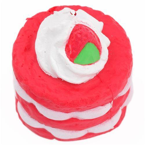 Squishy Cake Food 52 : red cake with cream squishy - Food Squishy - Squishies - Kawaii Shop modeS4u