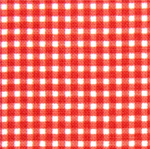 Red Checkered Michael Miller Fabric Gingham Pattern Dots