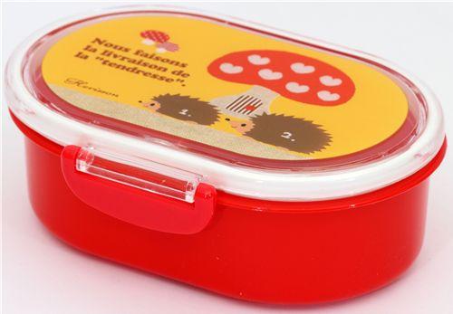 red hedgehog bento box toadstool hearts lunch box bento box bento boxes kawaii shop modes4u. Black Bedroom Furniture Sets. Home Design Ideas