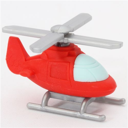 red helicopter eraser from japan by iwako vehicle eraser. Black Bedroom Furniture Sets. Home Design Ideas