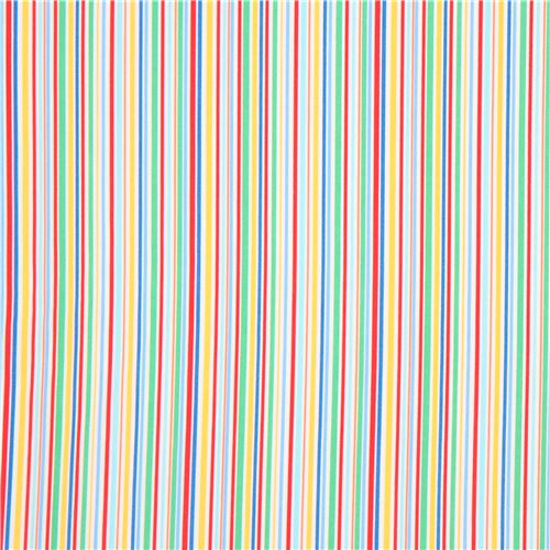 Red Light Blue Green Colorful Stripe Fabric Michael Miller 3