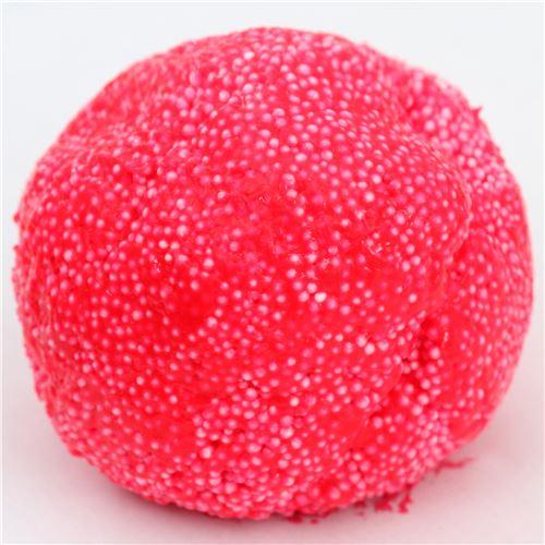 rosaroter wolkenschleim mit mikroperlen in beh lter schleim slime squishies kawaii shop. Black Bedroom Furniture Sets. Home Design Ideas