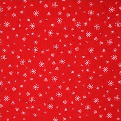 Tissu d 39 hiver simply christmas rouge motif flocons de - Motif de noel a imprimer ...