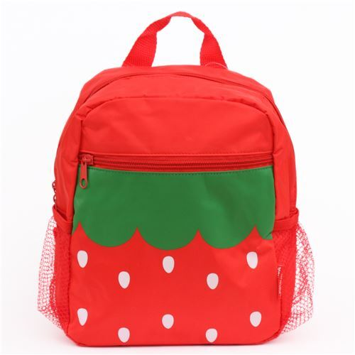 938ace6a34 red strawberry childrens backpack school bag - modeS4u Kawaii Shop