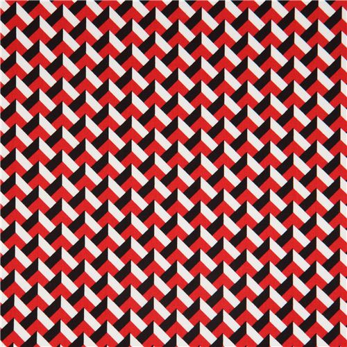 red white black 3d pattern fabric with by robert kaufman usa dots