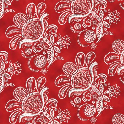 red white flower fabric Quilting Treasures 'Ceylon' - Flower ... : quilting treasures - Adamdwight.com
