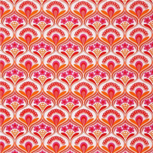 Toile Papier Peint Retro A Fleurs Marrons Par Robert Kaufman