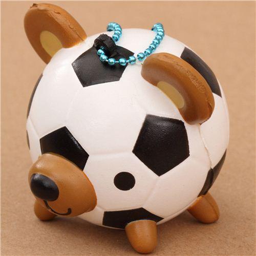 Squishy Animal Balls : soccer ball teddy bear squishy cellphone charm - Character Squishy - Squishies - Kawaii Shop modeS4u