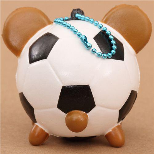 Squishy Stretchy Ball : soccer ball teddy bear squishy cellphone charm - Character Squishy - Squishies - Kawaii Shop modeS4u