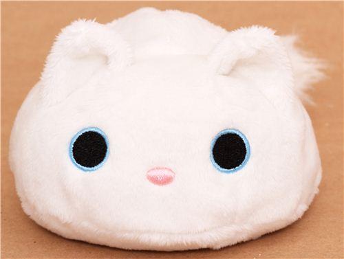 Round White Kutusita Nyanko Cat Plush Toy Plush Toys