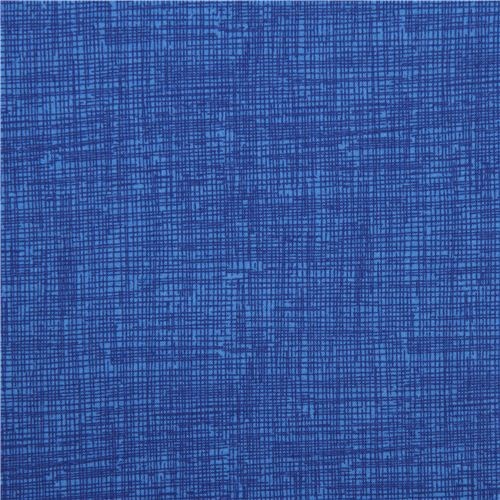 Royal Blue Grid Pattern Sketch Fabric Timeless Treasures