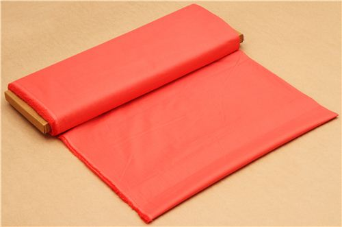 solid coral red birch organic fabric from the USA - Organic Fabric ...