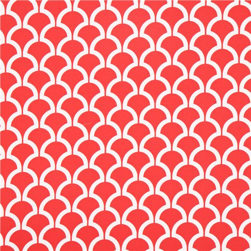 Red Pattern Cotton Sateen Fabric Michael Miller Dots