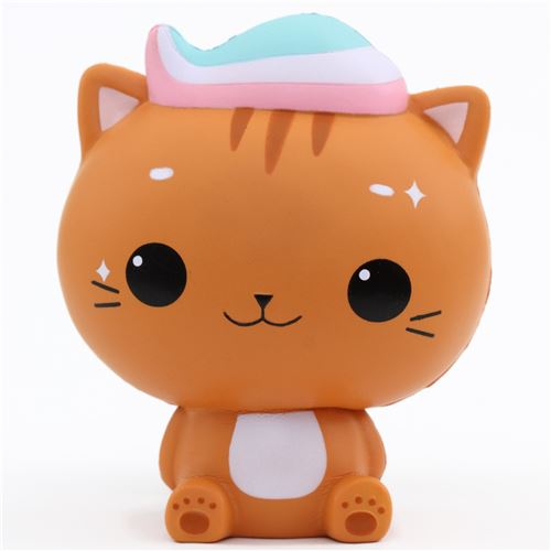 Squishy Animal Jam : scented jumbo brown cat Minty Luna squishy by Cutie Creative - Animal Squishies - Squishies ...