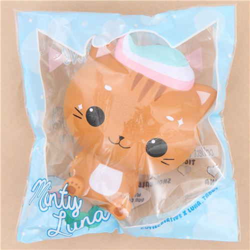Squishy Cat Accessory : scented jumbo brown cat Minty Luna squishy by Cutie Creative - Animal Squishies - Squishies ...