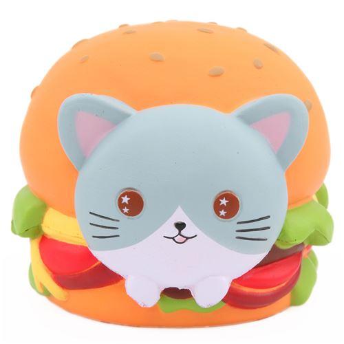 Scented Jumbo Cat Hamburger Squishy By Popularboxeshk