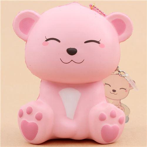 Squishy Eyes : scented jumbo pink polar bear eyes closed animal squishy by Puni Maru - Puni Maru Squishy ...