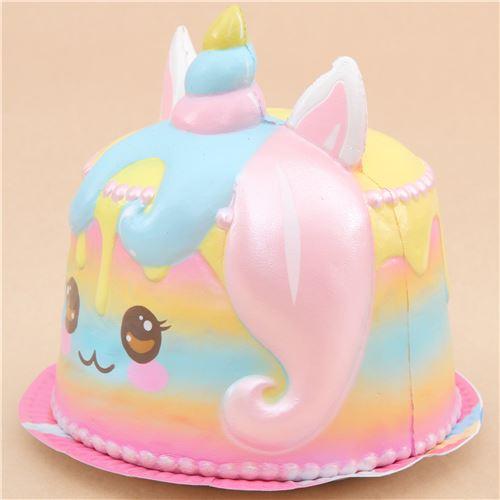 Pastel Cakes Squishy Tag : Squishy Puni Maru parfum? jumbo en forme de g?teau avec une licorne - Squishy Puni Maru ...
