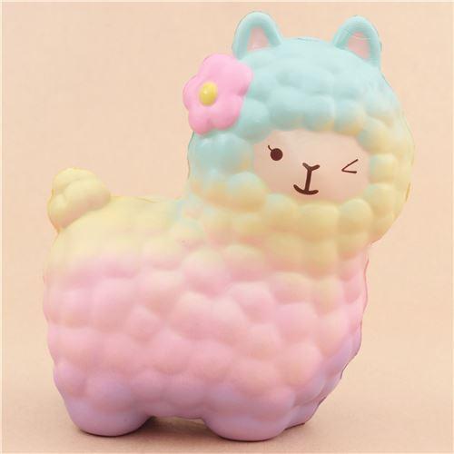 Squishy Is : scented rainbow alpaca squishy by Vlampo - Animal Squishy - Squishies - Kawaii Shop modeS4u