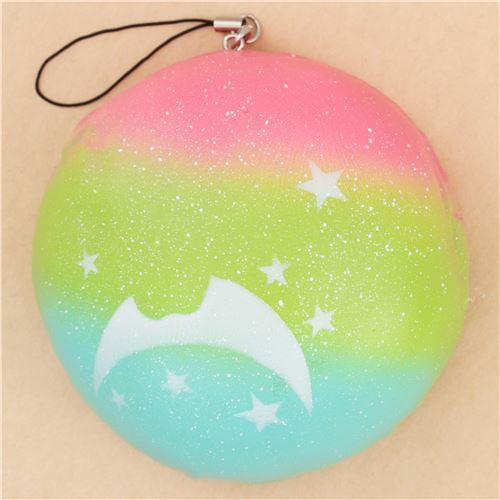 Scented rainbow bun with moon and star squishy food for Food bar rainbow moon