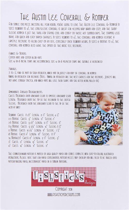 Patrones de costura para mono pijama de bebé de EEUU - Patrones de ...