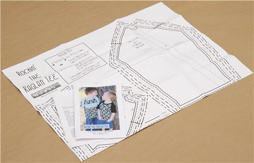 sewing pattern for children 39 s shirt with raglan sleeves. Black Bedroom Furniture Sets. Home Design Ideas