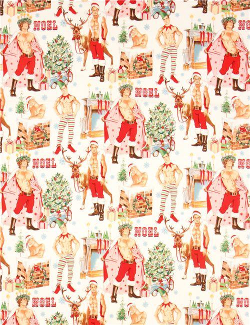 Sexy Weihnachtsmann Pin Up Weihnachtsstoff Alexander Henry