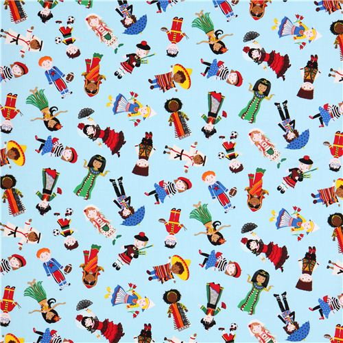 Tissu bleu ciel avec des enfants du monde entier par timeless treasures tissus pour enfants - Code promo les enfants du design ...