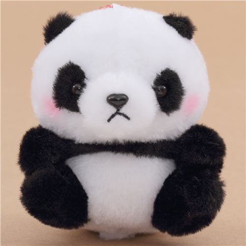 Small Black White Panda Squeaky With Chain Plush Toy Japan Modes4u