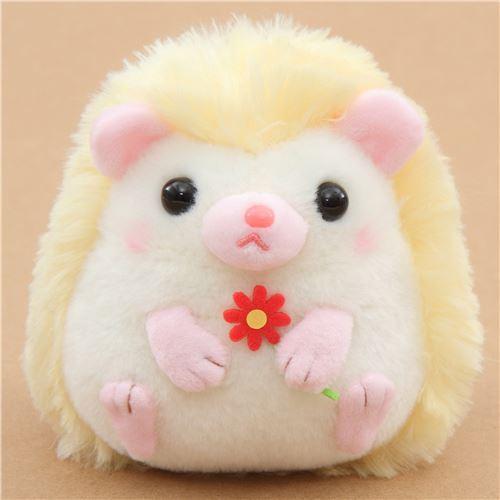 Small Light Cream Yellow Hedgehog Harin The Hedeghog Plush Toy Japan