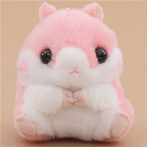 Small Pink White Hamster With Chain Coroham Coron Cafe