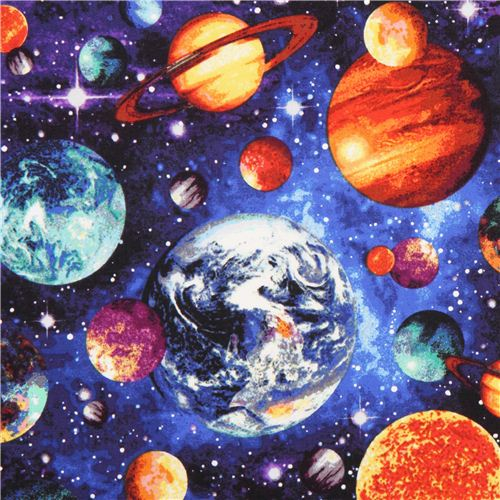 Space planet fabric stonehenge out of this world fabric for Planet print fabric