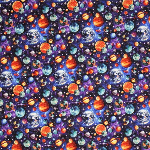 Space planet fabric stonehenge out of this world fabric for Space photo fabric