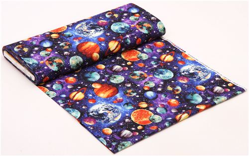 Space planet fabric stonehenge out of this world fabric for Space fabric material