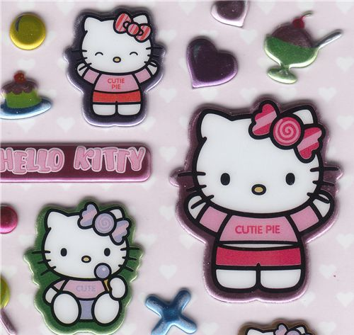 hello kitty sticker candy sweets raccolte di adesivi. Black Bedroom Furniture Sets. Home Design Ideas
