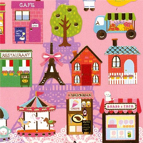 Stickers in french style with shops eiffel tower 1