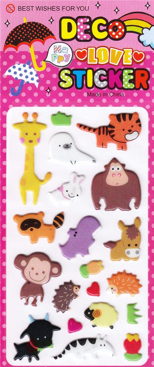 Kawaii sticker cute animals raccolte di adesivi - Porta pranzo tiger ...