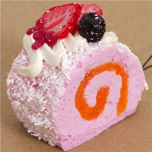 White Strawberry Cake Squishy